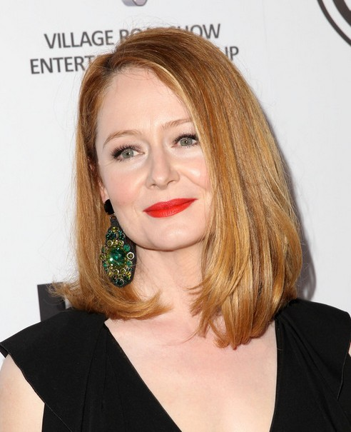 2014 Miranda Otto Medium Hairstyles: Long Bob Cuts