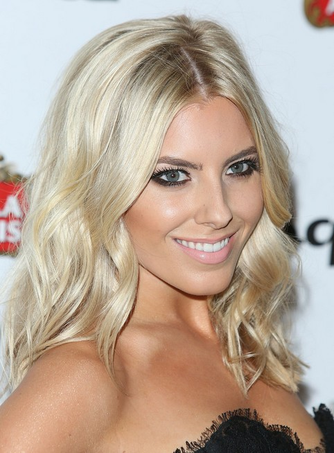 2014 Mollie King Long Hairstyles: Light Blonde Hair