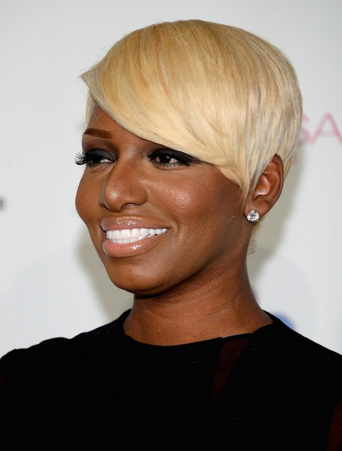 2014 NeNe Leakes' Short Hairstyles: Blonde Pixie Haircut for Black Women