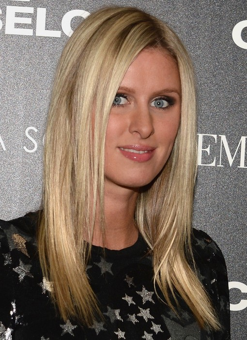 2014 Nicky Hilton Hairstyles: Medium Straight Haircut