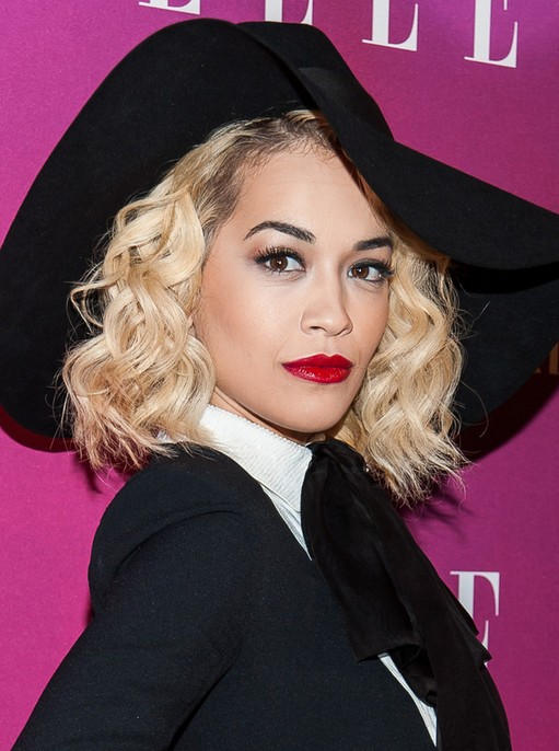 2014 Rita Ora Medium Haircuts
