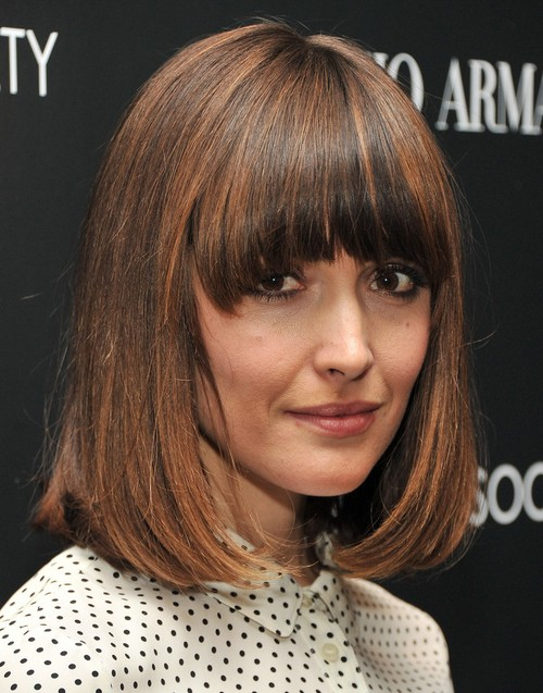 2014 Rose Byrne Medium Haircut: Trendy Bob Hairstyle