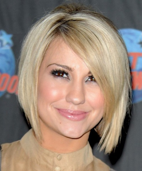 2014 Short Blonde Bob Hairstyle for Women from Chelsea Kane