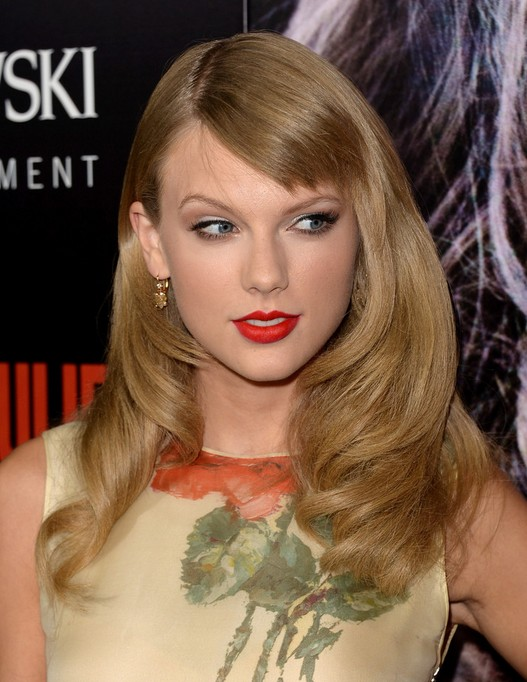 2014 Taylor Swift Long Hairstyles: Long Hair for Short Bangs
