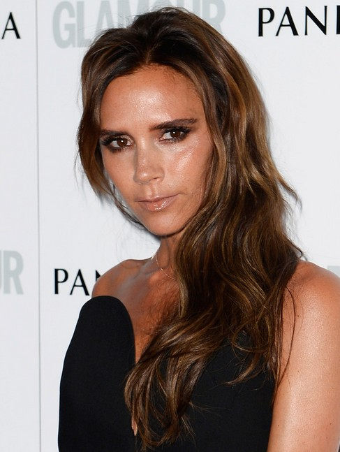 2014 Victoria Beckham Long Hairstyles: Celebrity Haircut