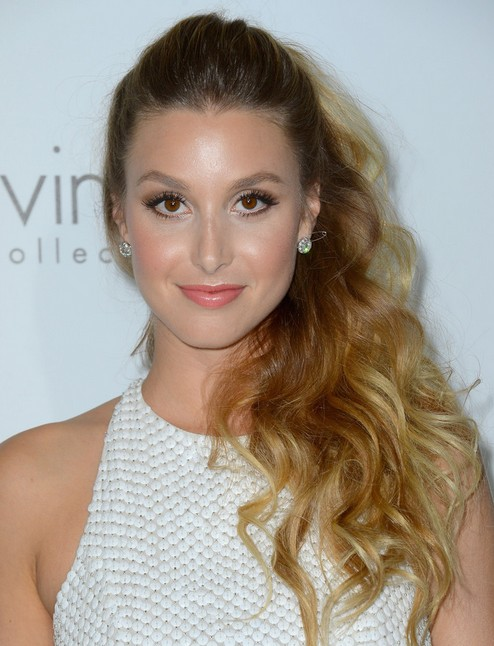 2014 Whitney Port Hairstyles: Cute Ponytail