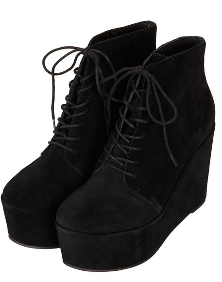 ALFF Lace Up Wedge Boots