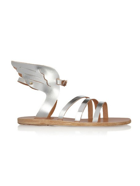 ANCIENT CREEK Ikaria metallic leather wing sandals
