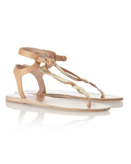 ANCIENT CREEK Ismene metallic leather sandals