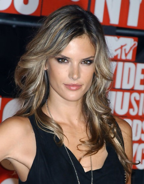 Alessandra Ambrosio Long Hairstyle Flaxen Curls Pretty