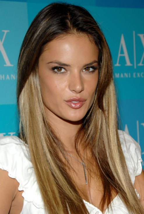 Stupendous Alessandra Ambrosio Long Hairstyle Ombre Hair Pretty Designs Short Hairstyles For Black Women Fulllsitofus