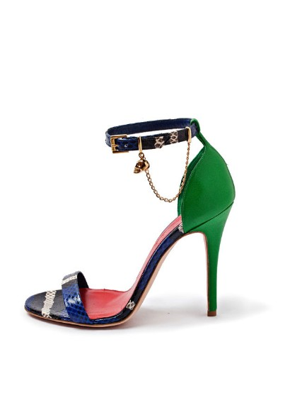 Alexander McQueen Green Blue shoes