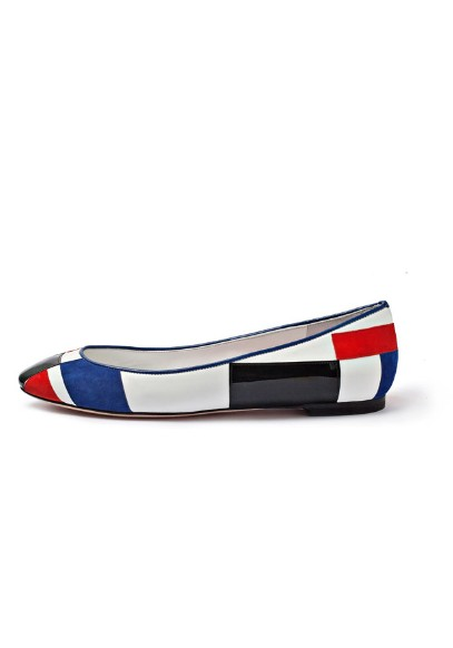 Alexander McQueen red blue black flats