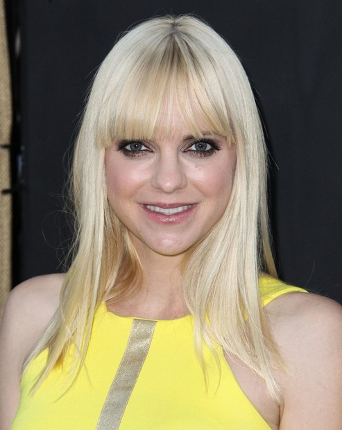Anna Faris Long Hairstyles 2014: Straight Hairstyle for Bangs