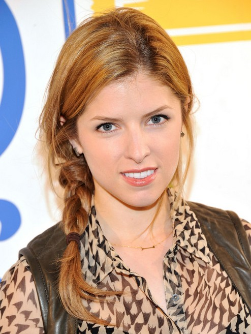 Anna Kendrick Long Hairstyles: 2014 Braided Hairstyle for Summer