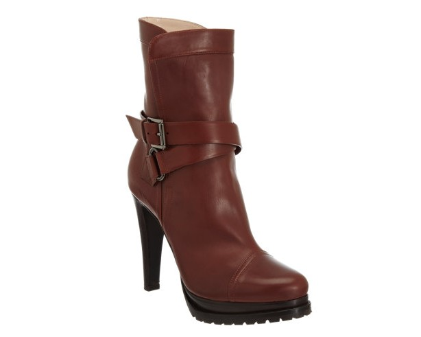 ArmaniDobule Buckle Platform Boots
