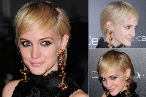 Ashlee Simpson's Short hairstyles