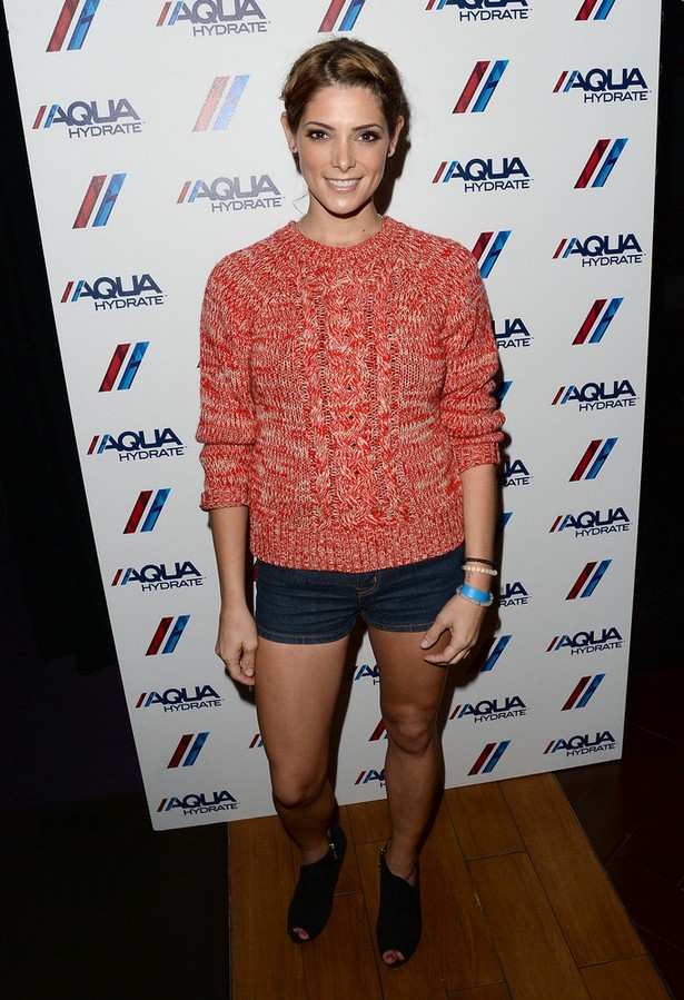 Ashley Greene Red Knitted Crewneck Sweater by Isabel Marant