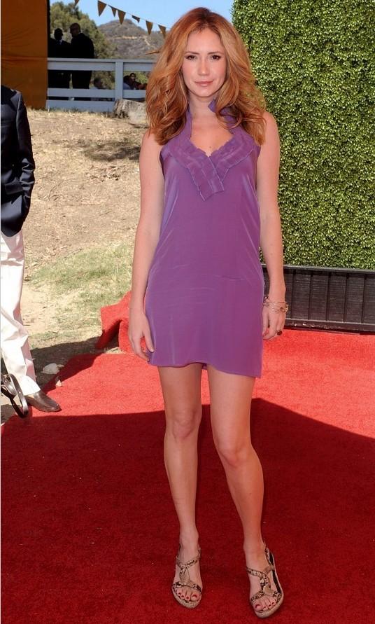 Ashley Jones Lingerie-inspired Purple Mini Dress