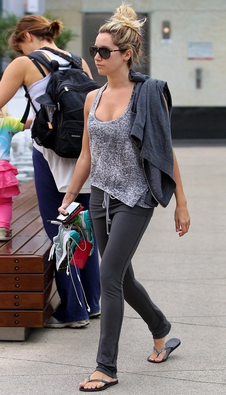 Ashley Tisdale's Flip Flops