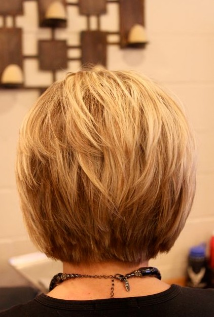 Back View A-Line Bob Haircut