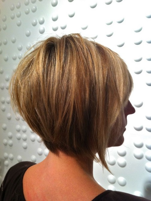Astonishing Back View Of Layered Bob Hairstyle Pretty Designs Hairstyle Inspiration Daily Dogsangcom