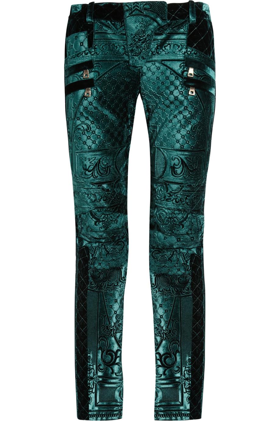 Balmain emerald jeans