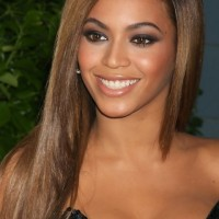 Beyonce Long Hairstyles: Romantic Straight Layered Haircut