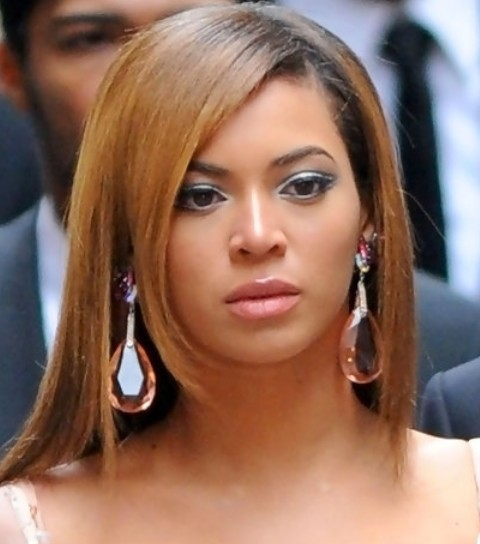 Stupendous Beyonce Hairstyles Slick Long Straight Haircut With Bangs Short Hairstyles For Black Women Fulllsitofus