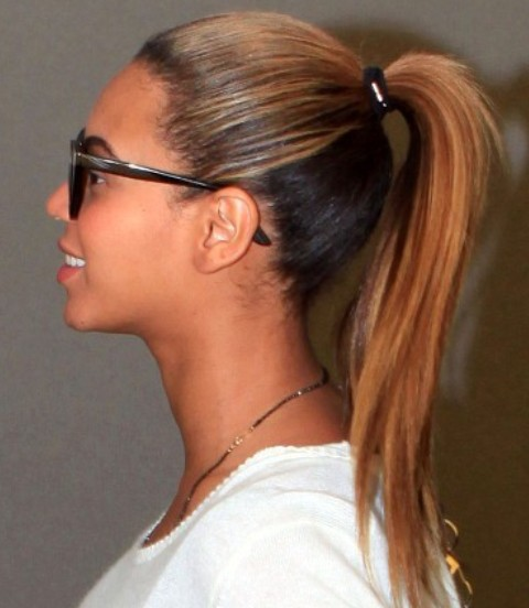Beyonce Hairstyles: Youthful Ponytail