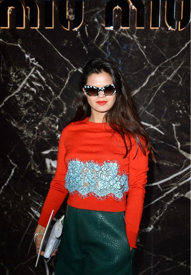 Bip Ling Embellished Orange Sweater