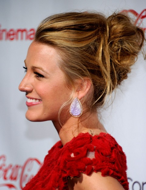 Blake lively long hairstyle messy updo without bangs pretty designs blake lively long hairstyle messy updo without bangs pmusecretfo Choice Image