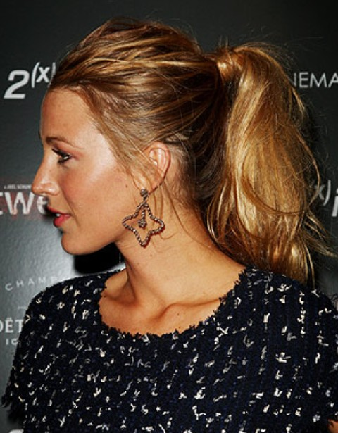 Blake Lively Long Hairstyle: Ponytail for Teenage - Pretty Designs