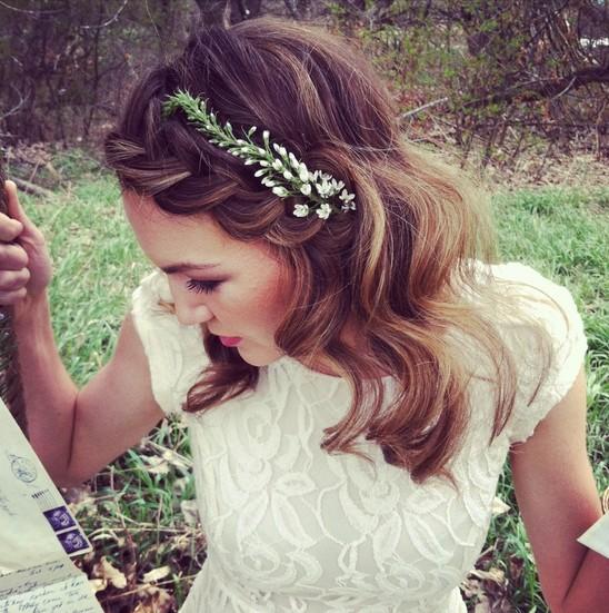 Braided Wedding Hair Style: 7 Beautiful Braided Bangs