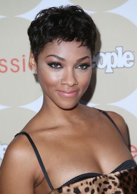 Excellent Bria Murphy Short Haircut 2014 African American Hairstyle For Short Hairstyles For Black Women Fulllsitofus