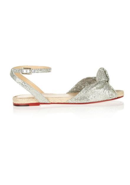 CHARLOTTE OLYMPIA Marina glittered woven sandals