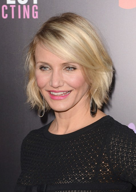 Hairstyle for Women Over 40 - Cameron Diaz Short Bob Hairstyle