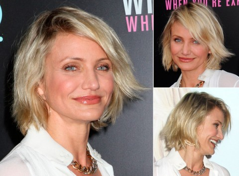 Cameron-Diaz's short hairstyles