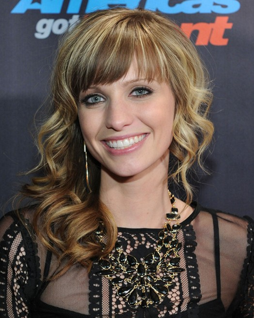 Cami Bradley Long Hairstyles: 2014 Curly Wavy Hairstyles for Bangs