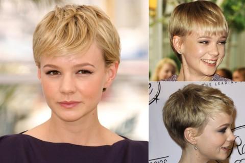 Carey-Mulligan's short hairstyles