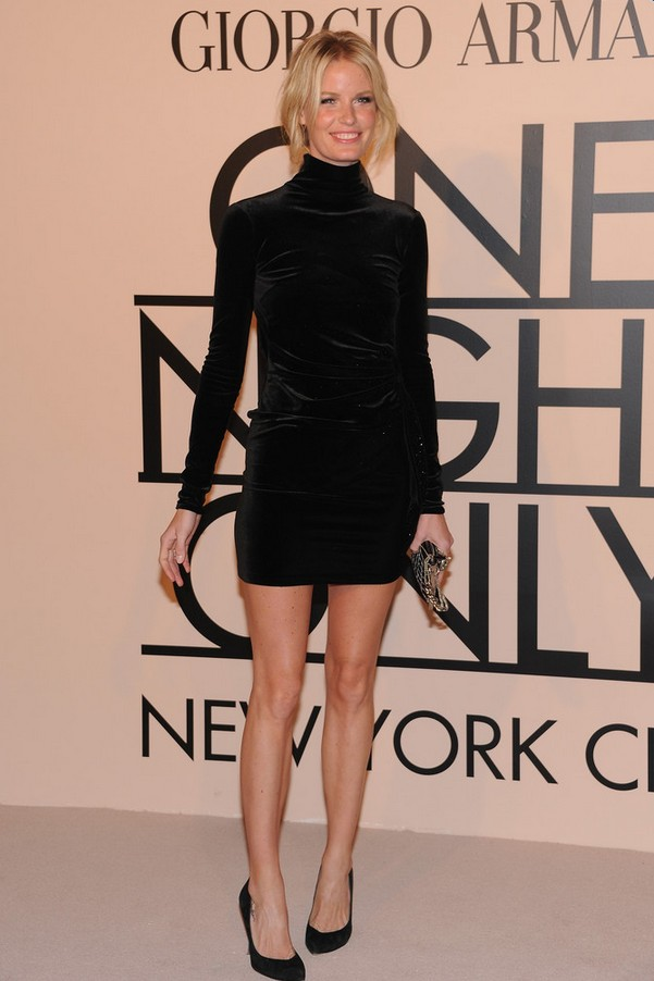 Caroline Winberg Short Blac Velvet Mini Dress