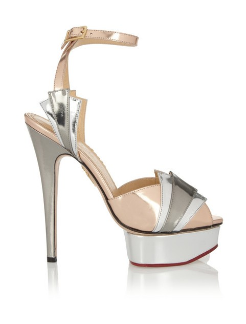 Charlotte Olympia Decent metallic leather sandals