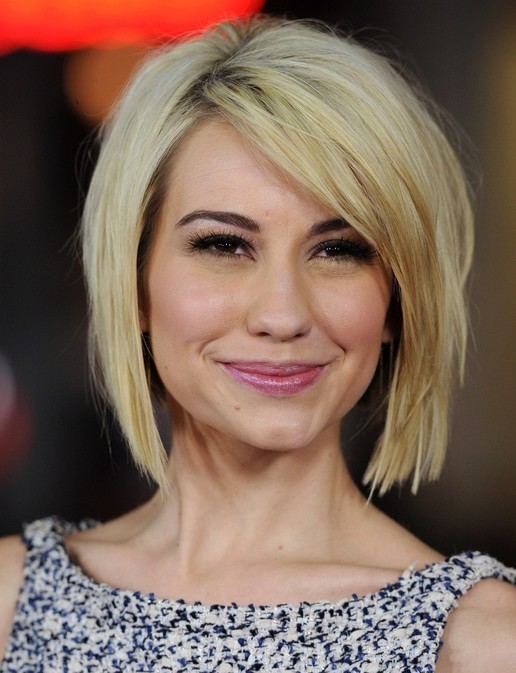 Chelsea Kane's Short Hairstyles: Blunt Bob with Side Bangs