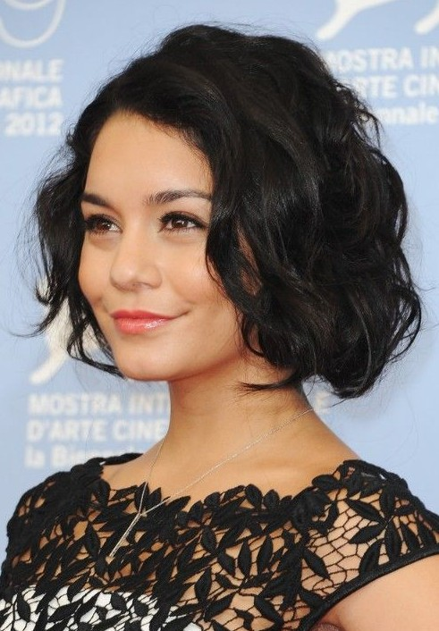 Chic Black Curly Bob Hairstyle for Women - Pretty Designs