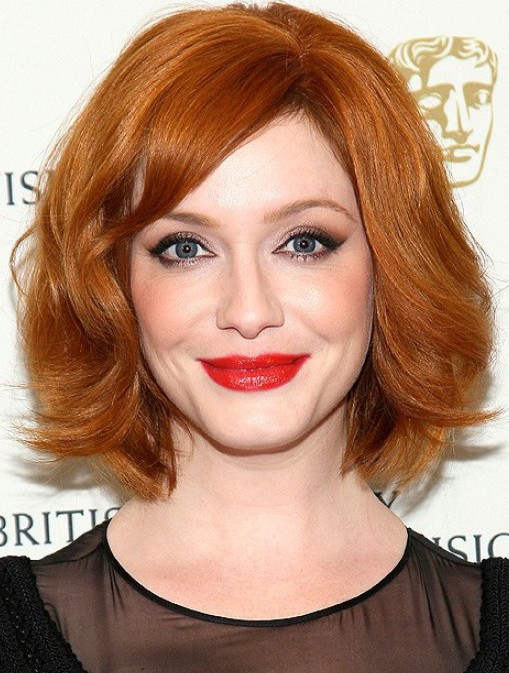 Christina Hendricks Short Red Bob Haircut