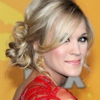 Christmas Holiday Updo Party Hairstyle for Ash Blond Hair
