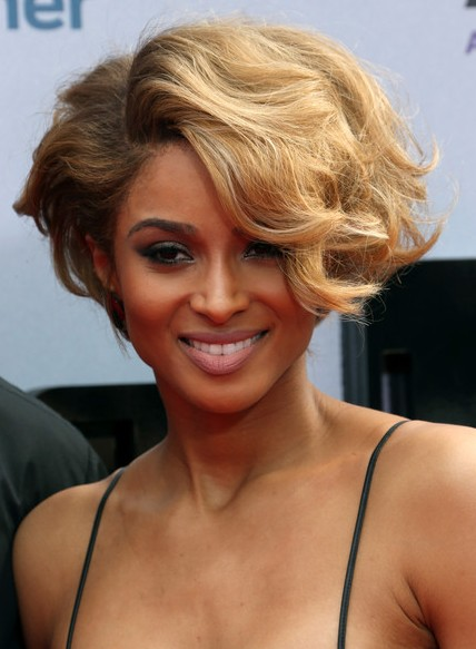 Short Hairstyles - 2014 Elegant Wavy Curly Hair Styles for Black Women