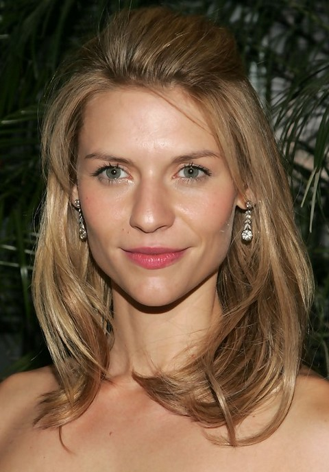 Claire Danes Hairstyles: Adorable Half-up Half-down Hairstyle