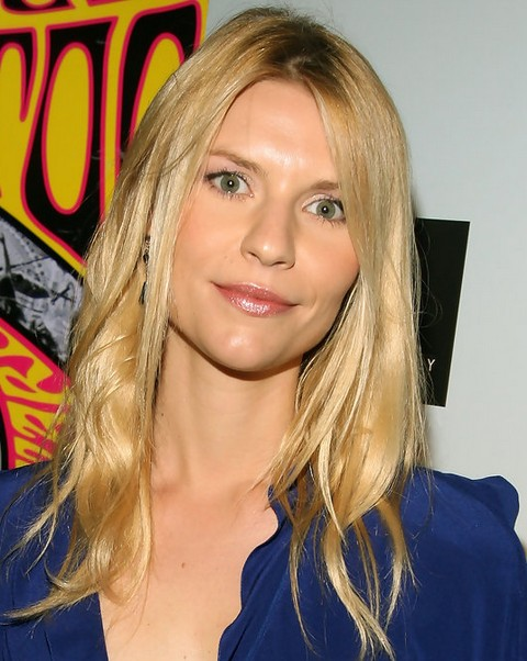 Claire Danes Hairstyles Center Parted Medium Haircut