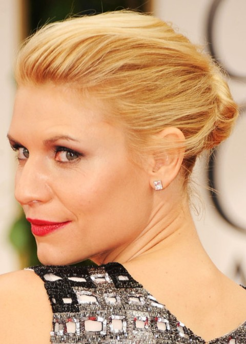 Claire Danes Hairstyles: Classic Bun